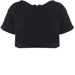 WALK TRENDY - TOP CROPPED OVERSIZED MOLETOM - PRETO